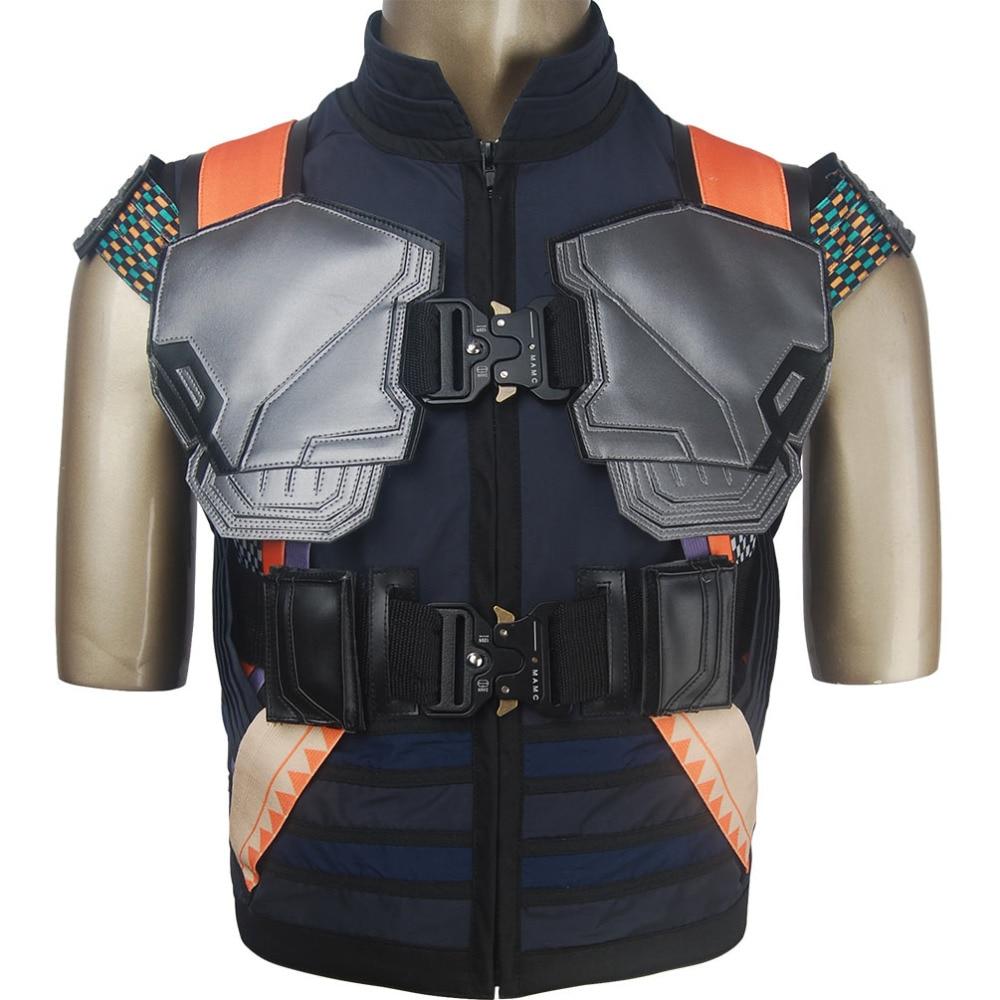 Black Panther Killmonger Erik Stevens jacket coat armor cosplay supervillain Halloween costume superhero X'mas birthday X'mas