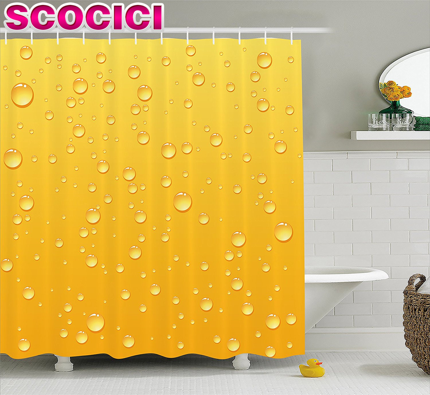 graphic shower curtain  mobroicom - aliexpresscom  buy yellow decor shower curtain yellow ombre