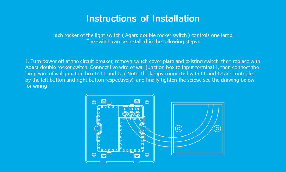 Original Xiaomi Aqara Smart Light Control Single Fire Wire 86 ZiGBee ...