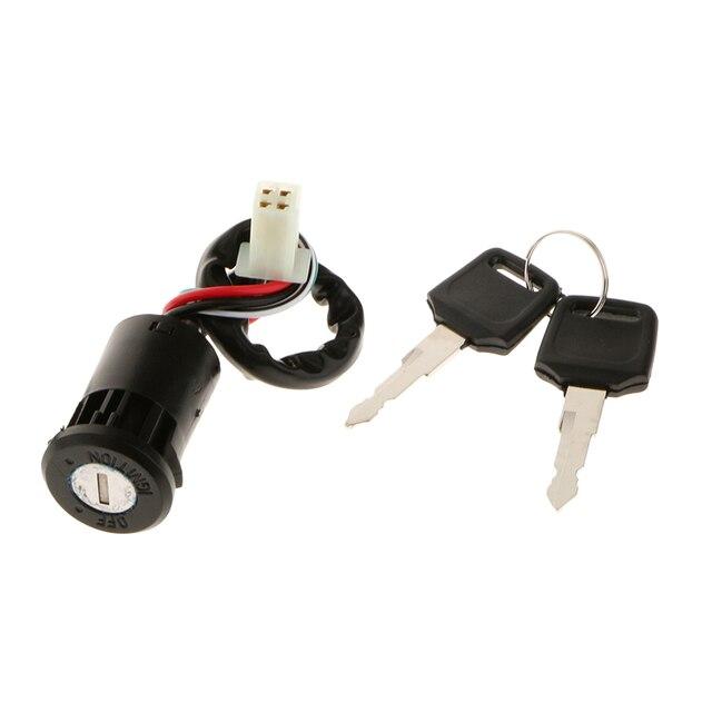 4 fios interruptor de chave de ignição 50cc 70cc 90cc 110cc 125cc atv bicicleta da sujeira ir kart universal moto carro estilo