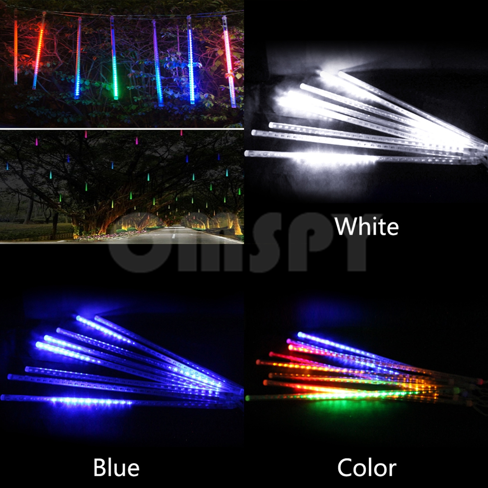 Meteor Shower Rain Tubes 30cm /50cm AC100-240V LED Christmas Lights Outdoor Waterproof String Light Wedding Garden Decoration