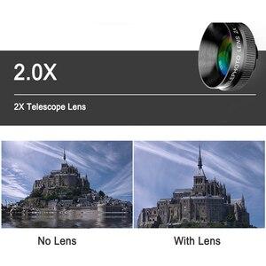 Image 3 - HD 2X ومح عدسة مجهر 65 مللي متر آلة تكبير تليفوتوغرافي الهاتف كاميرا عدسة لهواوي p20 لايت nova 3 جميع الهاتف الذكي