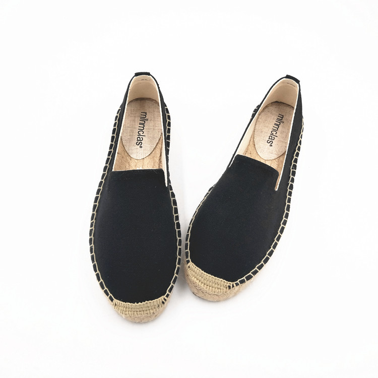 2019 New Fashion Embroidery Comfortable Palform Ladies Womens Casual Espadrilles Shoes Breathable Flax Hemp Canvas for Girls 5