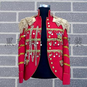 Red men suits designs masculino homme terno stage costumes for singers men sequin blazer dance clothes jacket style dress