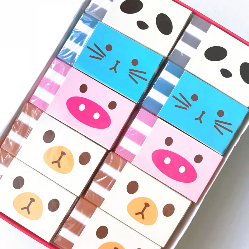 1PC Kawaii Panda Cat Bear Piggy Eraser Rubber Erasers Correction School Office Supply Student Stationery Kid Gift