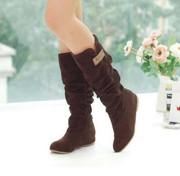 Nueva Mid 2016 Zapatos Flat Princesa Flock Elegante Negro C024 Mujeres Otoño 2 Botas Dulces calf 1 Primavera Casual Moda dF7nq1XFr