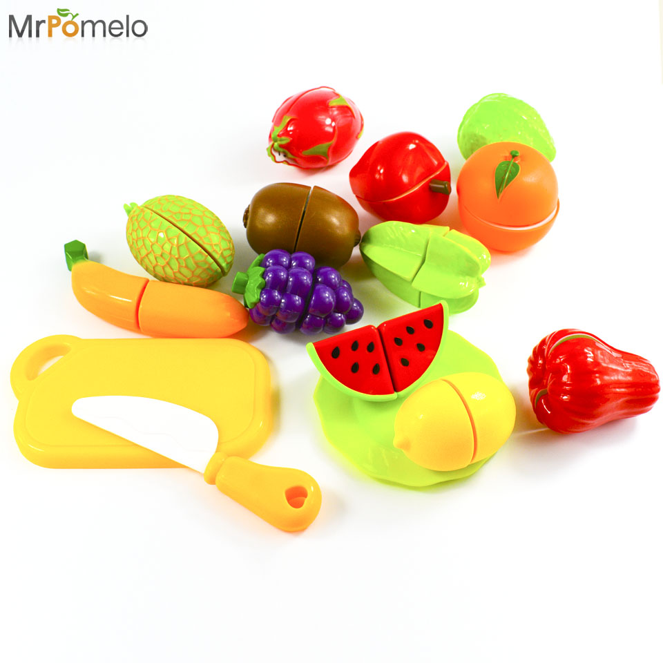 Fruit factory game - 15pcs Kids Cut Fruit Game Kitchen Toys Kids Learning Educational Simulation Kitchen Toys Toy Plastic Food