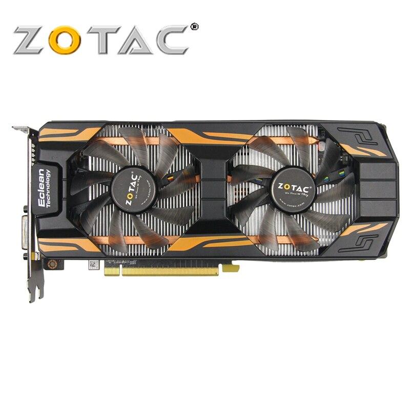 Zotac placa de vídeo geforce GTX760-2GD5 thunderbolt ha 256bit gddr5 placas gráficas para nvidia mapa original gtx 760 2 gb hdmi dvi