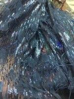 Новое поступление кружевные полотна сетки высокое качество темно синий Франции Тюль гипюр кружевной ткани для нигерийских одежда