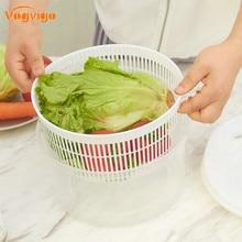 VOGVIGO High Quality Vegetables Basket Drain Basket Plastic Dryer Salad Spinner Fruit And Vegetable Dryers Kitchen Accessories