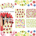 2015 NEW 20PCS/lot  M36-98  Manicure water stickers butterfly flowers series fruit stripe pattern deer leather belt