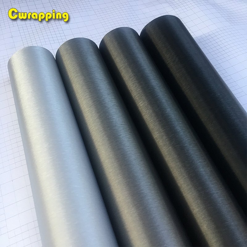 50cm*1/2/3/4/5m Car Styling Matt Brushed Aluminum Car Wrap Vinyl Film Sheet  Motorcycle Automobiles Car Stickers Decal