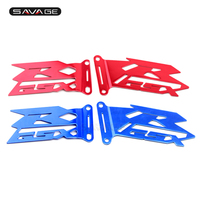 Front Foot Peg Heel Plates Guard Protector For SUZUKI GSXR GSX R 1000 GSXR1000 2017 2018 17 18 Pegs Pedal Motorcycle Accessories