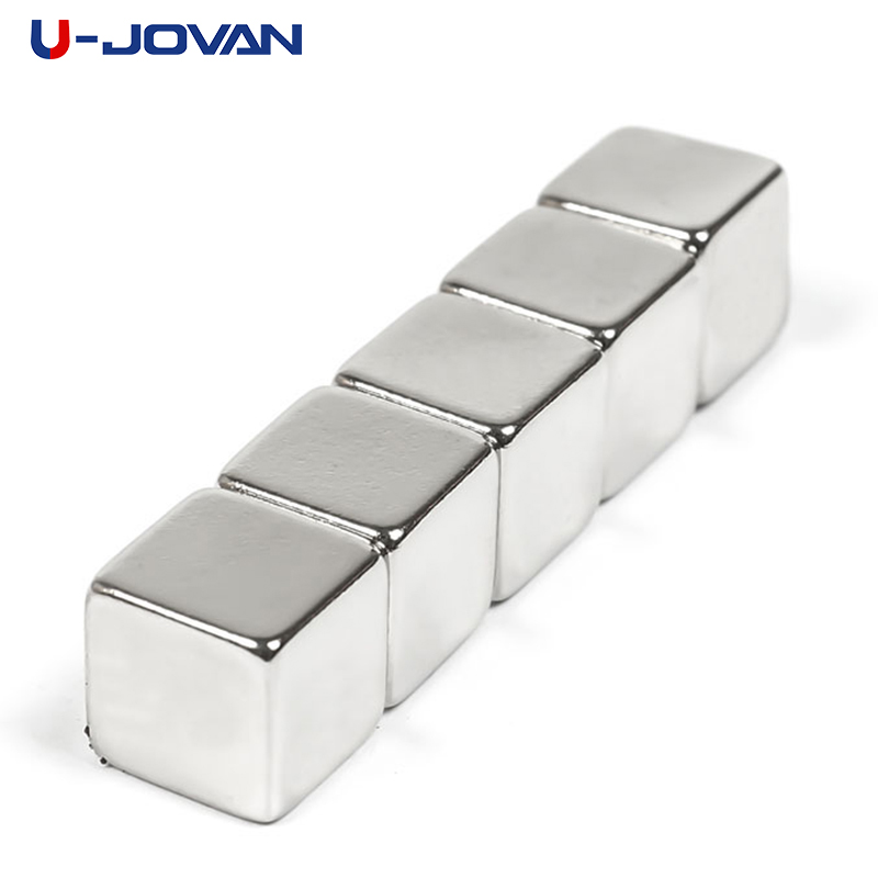 Capable U-jovan 5pcs 10*10*10mm Super Strong Rare Earth Magnet 10x10x10 Mm N35 Small Block Powerful Neodymium Magnets To Ensure Smooth Transmission