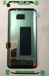 Image 5 - الأصلي سوبر AMOLED لسامسونج غالاكسي S8 S8 زائد G950f G950 G955 G955F عيب Lcd عرض تعمل باللمس محول الأرقام مع الإطار