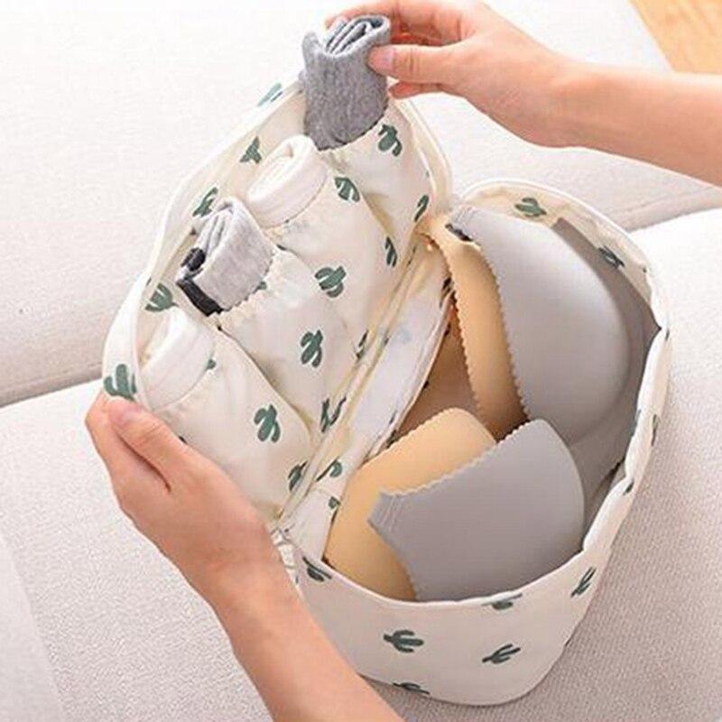 Trendy Women Waterproof Travel Storage Bag Underwear Bra Sorting Organizer Pouch