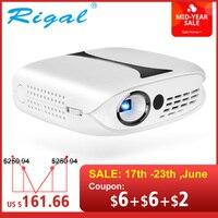 Rigal RD606 Мини светодиодный DLP проектор дополнительно HD WiFi Android 7,1 Карманный пикопроектор батарея поддержка 1080 P 3D телефон USB Beamer