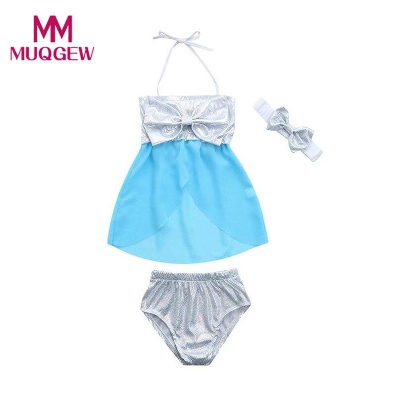 Bescheiden Klv Infant Kinder Baby Badeanzug Für Mädchen Kinder Zweiteilige Bowknot Riemen Badeanzug Baden Bikini Set # @ Eine Rabatte Verkauf