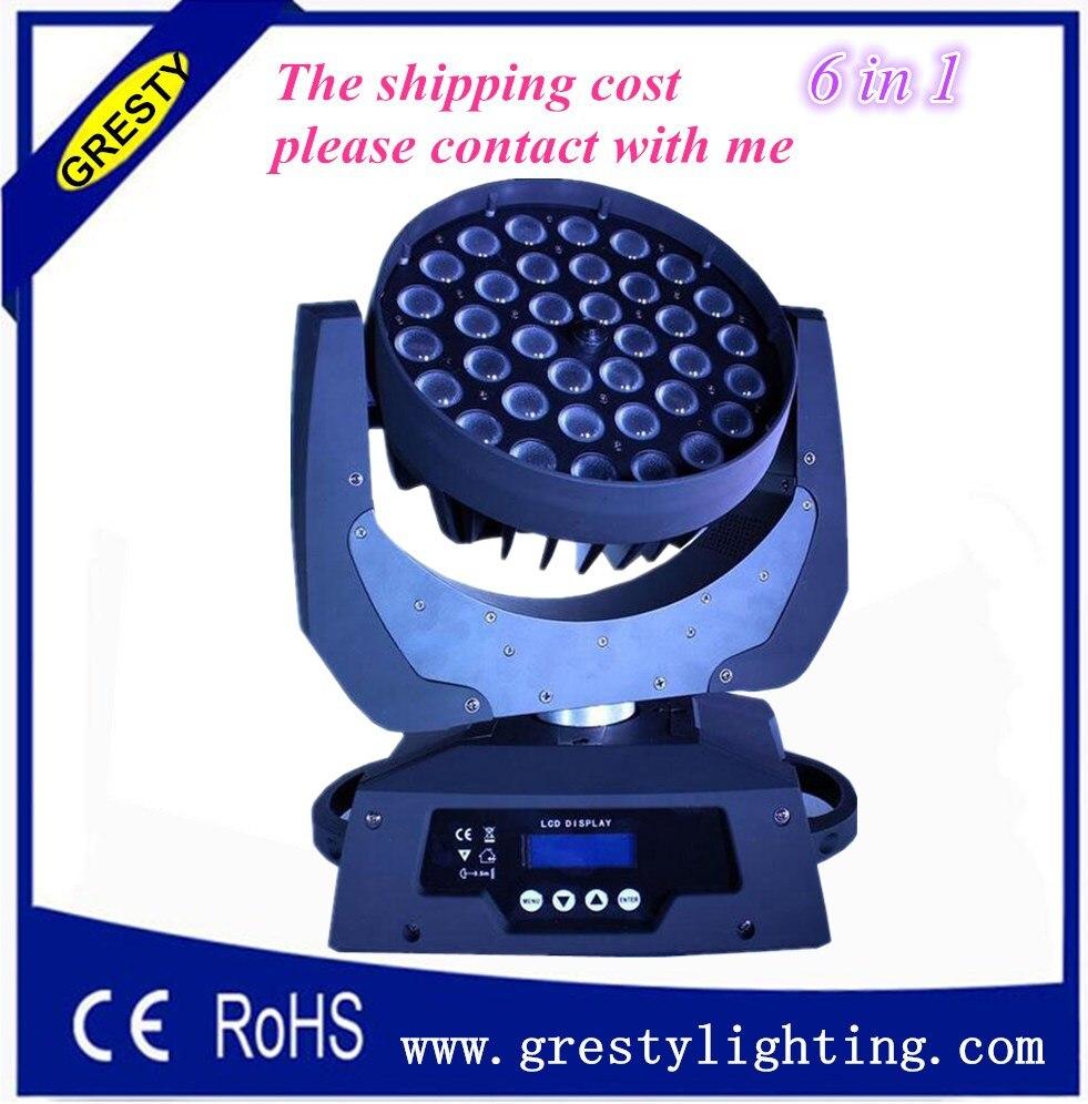 2pcs/lot Christmas led light 36 pcs 18w rgbwa uv 6 in 1 moving head wash light