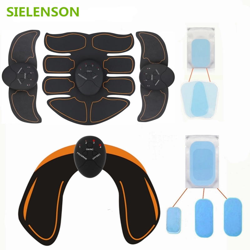 With Extra Gel Pads EMS Hip Trainer Wireless Muscle ABS Stimulator Smart Fitness Abdominal Muscle Trainer Body Slimming Massager