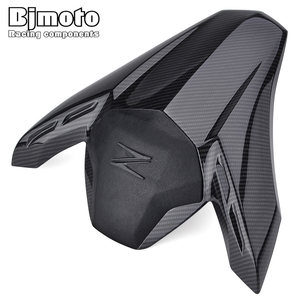 BJMOTO ABS Plastic Motorcycle Carbon Fiber Rear Pillion Seat Cowl Fairing Cover For Kawasaki Z900 2017 2018 plastic