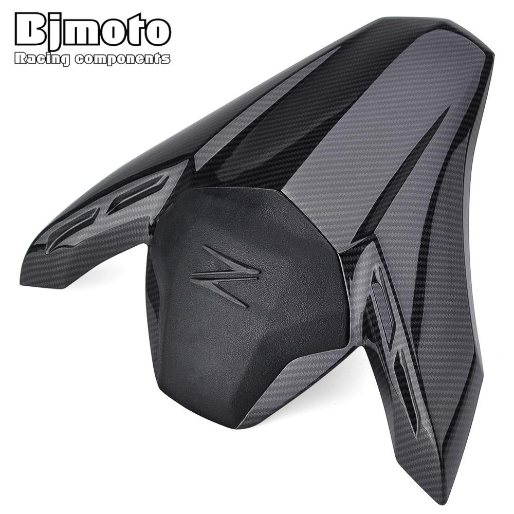 BJMOTO ABS Plastic Motorcycle Carbon Fiber Rear Pillion Seat Cowl Fairing Cover For Kawasaki Z900 2017 2018 недорого