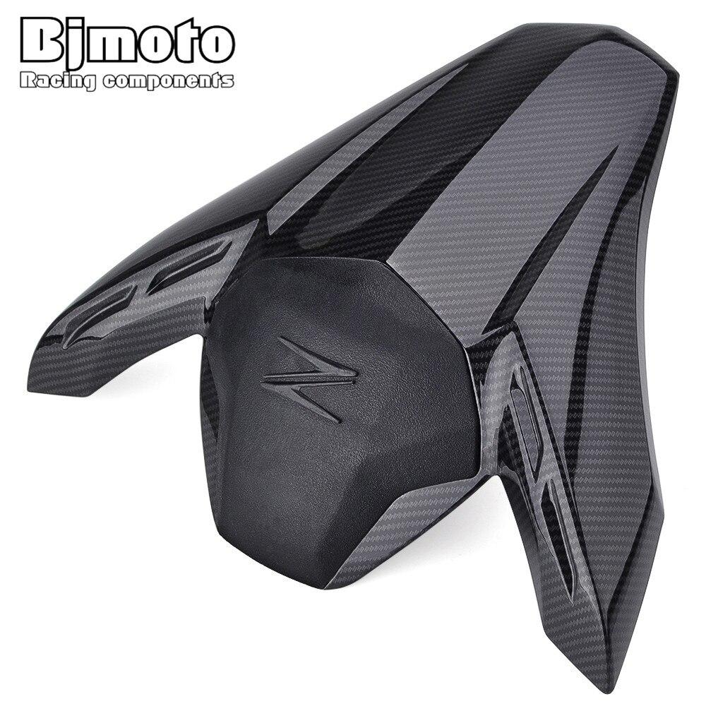 BJMOTO ABS plastique moto en Fiber de carbone siège arrière Pillion capot carénage couverture pour Kawasaki Z900 2017 2018