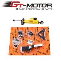 GT Motor CNC Steering Damper Complete Set For DUCATI 696 795