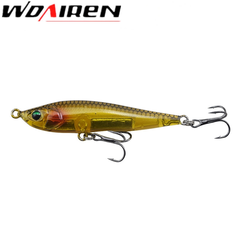 WDAIREN Thrill Stick Fishing Lure 70mm/10.5g Sinking Pencil Longcast Shad Minnow 3D Eyes Artificial Bait Bass Pike Lures WD-464 allblue thrill stick wobbler fishing lure 70mm 8 8g sinking pencil longcast shad minnow 3d eyes artificial bait bass pike lures