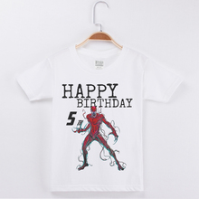 New Arrivals Birthday T-Shirt For Boy Venom Printing Cotton Short Sleeve Children Clothes Kids T Shirts Boys Clothing Child Tops