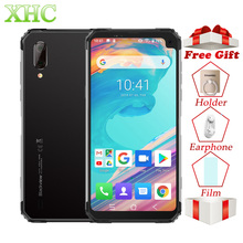 "Blackview BV6100 6.88 ""มาร์ทโฟน 3GB + 16GB Android 9.0 IP68 กันน้ำโทรศัพท์มือถือ 5580mAh NFC Dual SIM ลายนิ้วมือโทรศัพท์มือถือ"