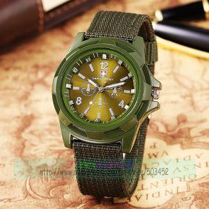 Image 4 - 100pcs/lot Fashion Gemius Army Design Men Watch Charming Sport Quartz nylon Watch Wrap Nylon Military Watches wholesale clock