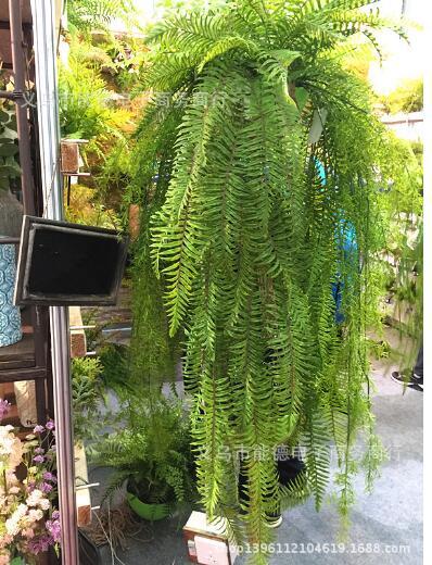 Herbe persane panier suspendu sent colle douce plante décoration murale matériel fleur artificielle fleur sèche super simulation plante.