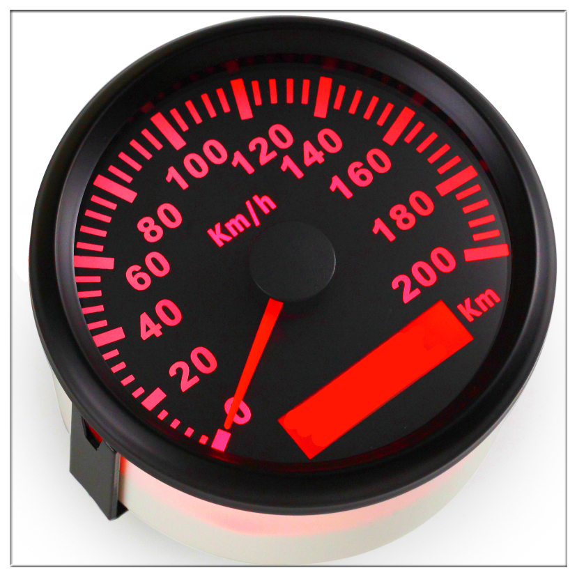 85MM GPS Speedometer Speed Gauge Pointer display Odometer 200 kmh Meter ATV Motorcycle Marine Boat Buggy 12V/24V Red backlight 12v 24v 85mm gps speedometer odometer 0 35knots waterproof for car motorcycle boat yacht vessel with blue backlight
