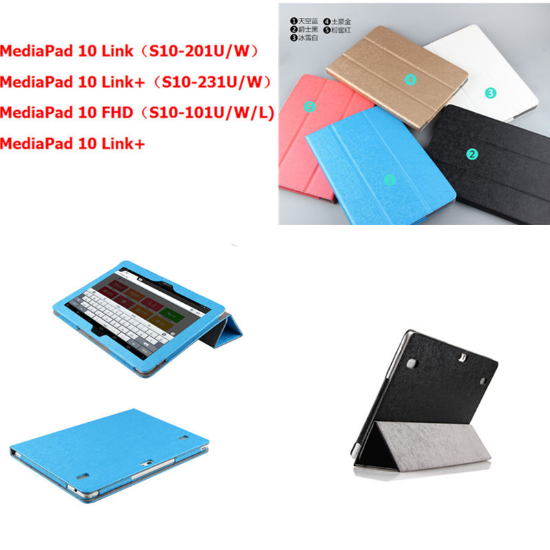 SD For Huawei Mediapad 10 FHD Link Link+ case Foldable Stand PU Leather case for Huawei 10FHD 10link 10Link+ 10.1 Tablet PC