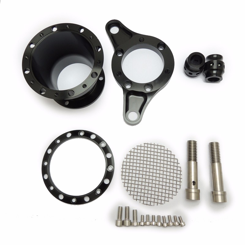 For 1991-2014 Sportster 883 1200 & Big TwinTwin Cam 1993-2006 (CV Carburetors) Velocity Stack Air Cleaner Kit Black (2)