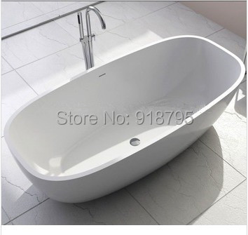 1800x800x540mm Solid Surface Stone CUPC Approval Bathtub Oval Freestanding  Corian Matt Or Glossy Finishing Tub RS6581