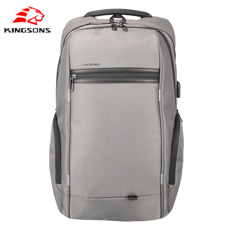 Kingsons Laptop Backpack External USB Charge Computer Backpacks Anti-theft Waterproof Bags for Men Women