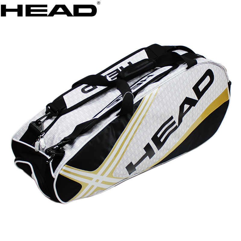 HEAD Tennis Backpack Large Capacity 3-6 Tennis Rackets Bag Tennis Backpack Tennis Racquet Bag With Separated Shoes Bag 73*23*30