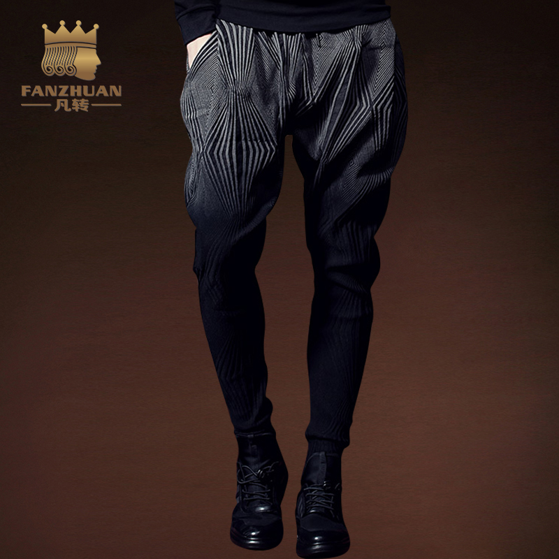 FANZHUAN Mens Casual Pants Loose Cargo pants Male Trousers Pencil Pants Loose Slim Fit H ...