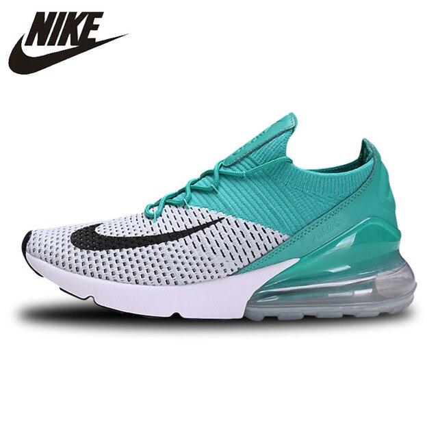 Nike Air Max 270 Coussin Sneakers Sport Flyknit Chaussures de Course Classique Vert Foncé AH6803-