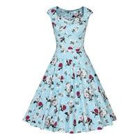 High Quaity 1950S 60s Sexy Dresses Women Summer Rockabilly Dress Sleeveless Cotton Vintage Tea 2XL 3XL