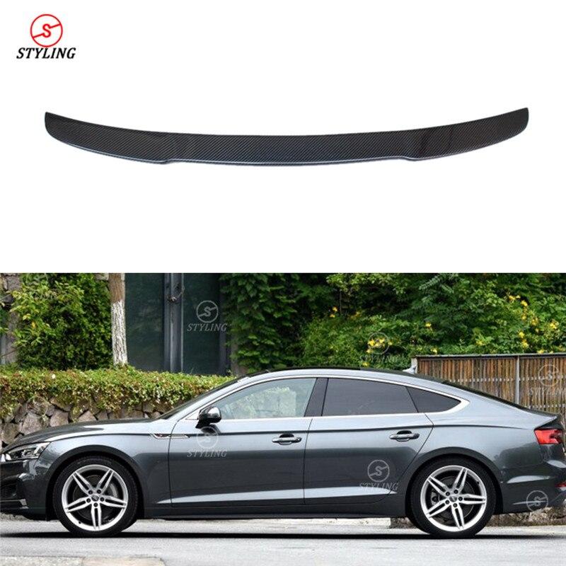 For Audi A5 Carbon Spoiler V Style Sedan 2010 2011 2012