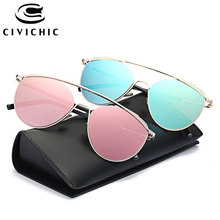 CIVICHIC 2017 New Stylish HD Sunglasses Women Double Bridge Eyewear Unique Mirror Oculos De Sol Hipster Streetsnap Gafas E311