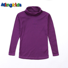 цены на Mingkids Thermal underwear children thermal turtleneck top German brand micro fleece warm top for boy and girl  в интернет-магазинах