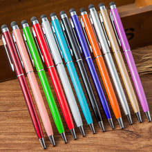 ballpoint pen Originality Metal Touch Pen Touch Screen Stylus Tablet Smart Phone Capacitor Stylus Black ink refill цена