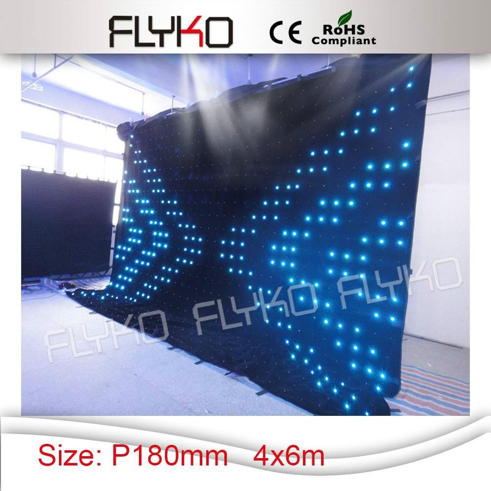Outdoor colorful led light soft folding led curtain screen