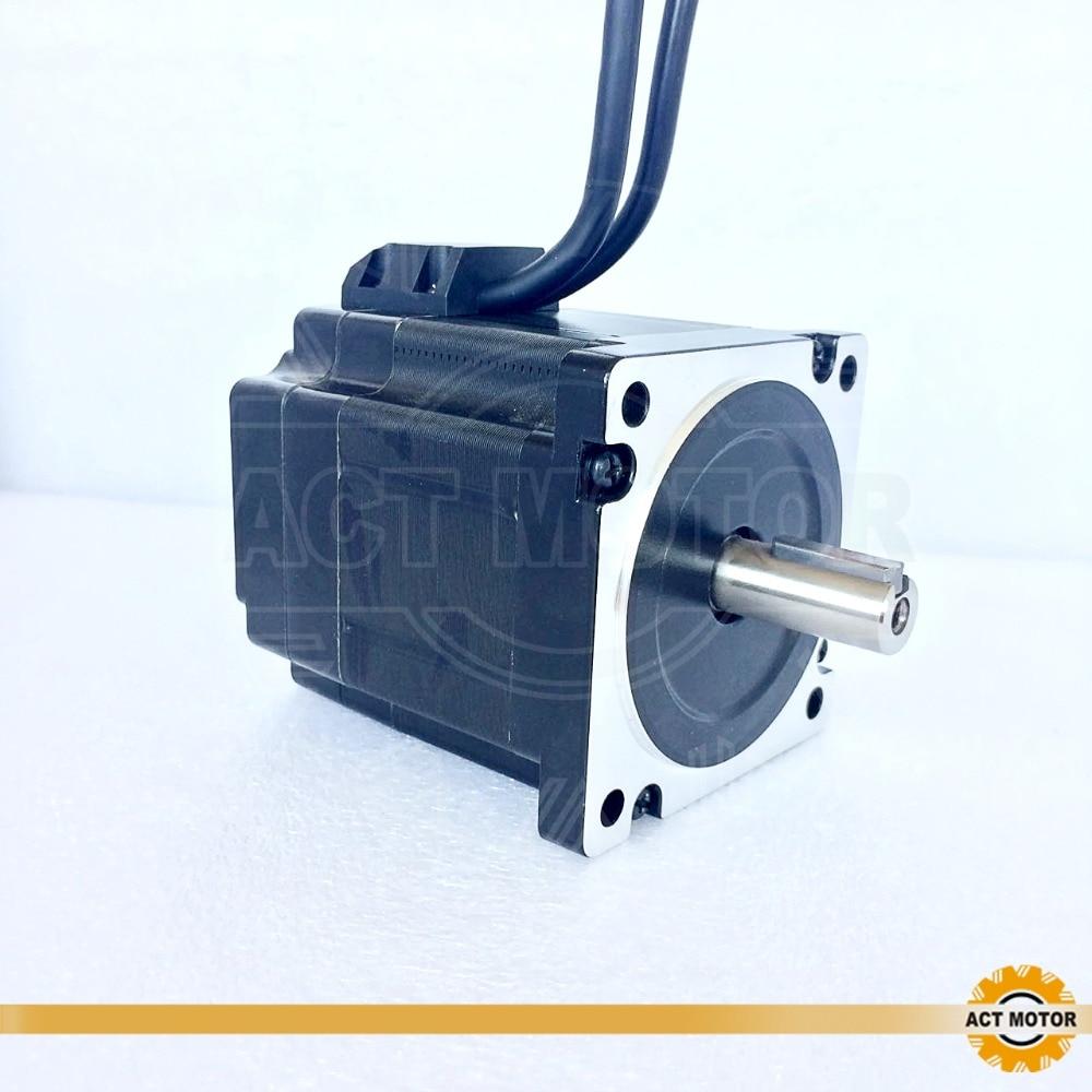 ACT Motor 1PC Nema34 Closed-Loop Stepper Motor 34SSM8460D14L32J5-EC1000 Single keyway Shaft 4Lead 566oz-in 80mm 6A 14mm Diameter вафельница sinbo ssm 2524