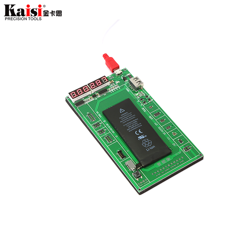 Kaisi Cell Phone Battery Fast Activation Board Plate Charging Cable Jig for iPhone X 8 8Plus 7Plus 7 6s 6 5s 5 4s Repair Tool цена