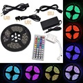 Waterproof  Lamp, LED 5050 RGB Light Strip with 44 Key Remote and Power Supply for Home Kitchen Garden Car Light Decoration